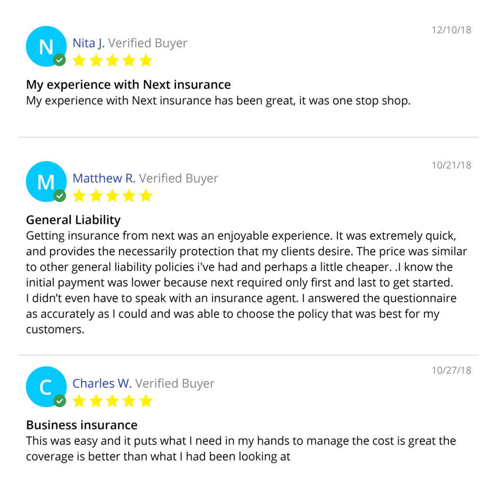 Three Customer Reviews