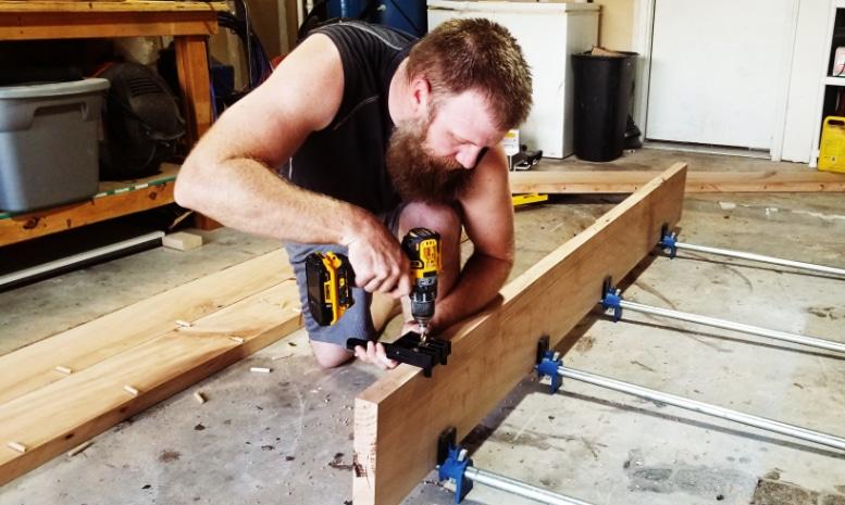 At work. Tim Hardin of Hardin Handyman Services