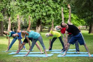 celebrating world yoga day